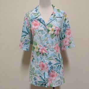 3for$20 button down blouse floral